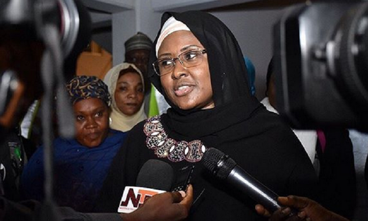 First lady, Aisha Buhari asks IGP to release her aides detained 'on the orders of Buhari's PA'