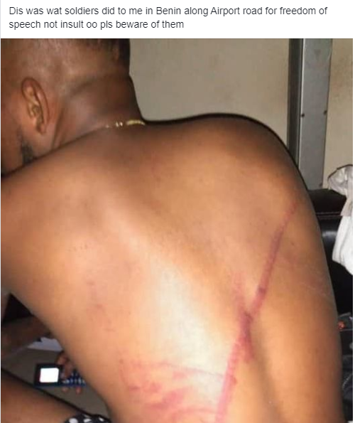 Man flogged by Soldiers for Expressing his Right To 'Freedom of Speech'