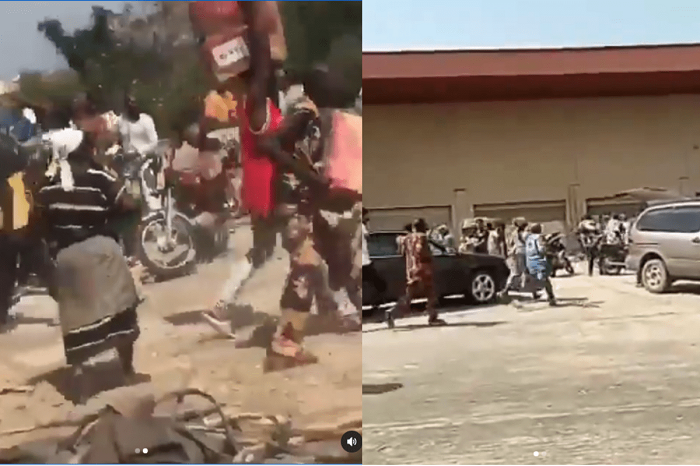 Kwara State Residents Storm Warehouse, Cart Away COVID-19 Palliatives In Ilorin Airport Road