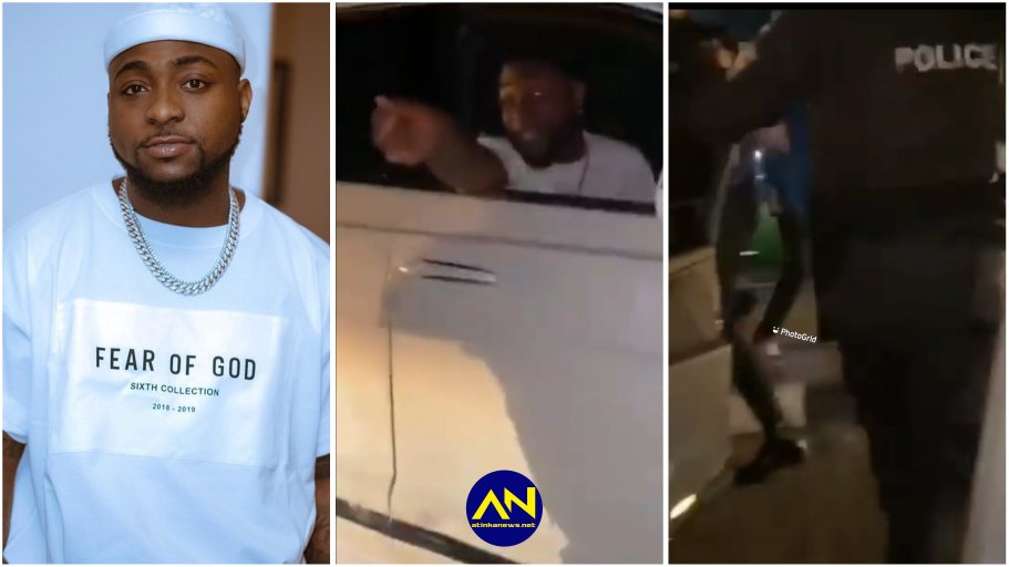 Moment Davido Stopped Policemen From Searching A Young Nigerian Man {VIDEO}