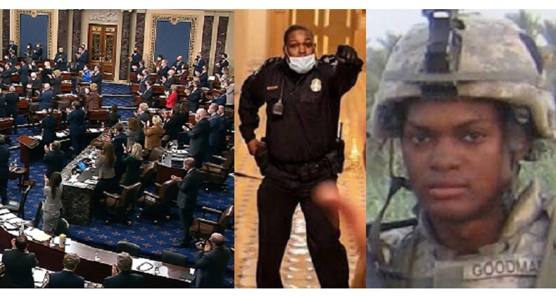 U.S. Senate Agrees To Grant Police Officer Eugene Goodman The Congressional Gold Medal For His Bravery During The Capitol Riots