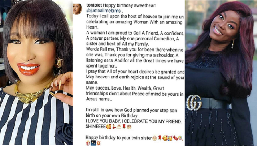 "I'm Proud To Call You A Friend"" Tonto Dikeh Celebrates Olakunle Churchill's First Ex-wife, Bimbo Coker, On Her Birthday."