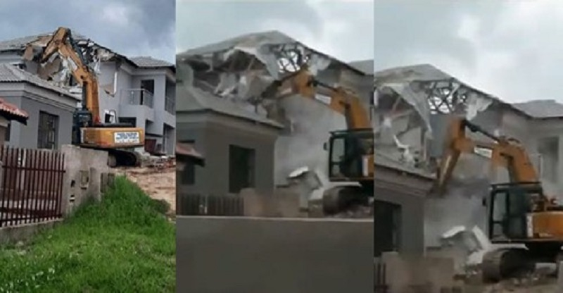 South African Man Reportedly Demolishes House He Built For His Girlfriend After She Ended Their Relationship {Video}