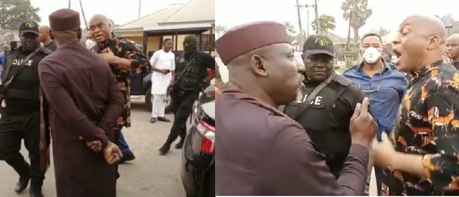 WATCH VIDEO: Governor Hope Uzodinma's Aide Disrespect Former Imo State Governor, Senator Rochas Okorocha At The Police Station