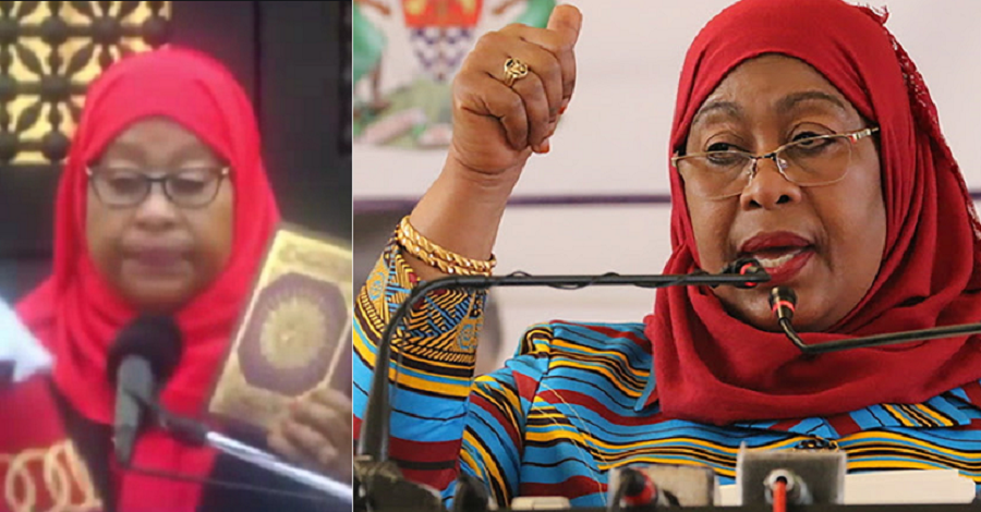 Tanzania's VP, Dr. Samia Suluhu Hassan, Is Sworn-In As The Country's First Female President {Video}