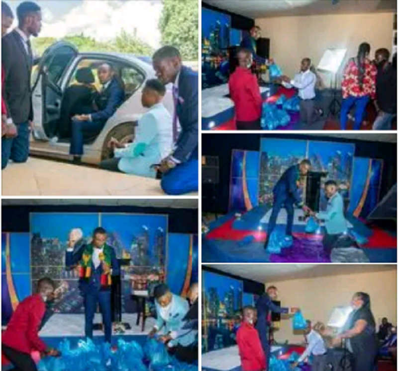 Church Members Kneel Down To Welcome Their Pastor In Zambia (Photos)