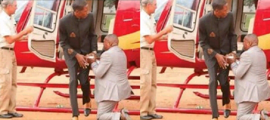 """""""We Are Too Spiritual Hence The World Can't Understand"""" - Zambian Pastor Says As He Shares Photo Of A Man kneeling Down Before Prophet Uebert Angel"""
