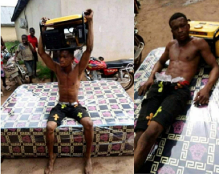 Suspected Thief Nabbed For Stealing Generator And Mattress In Delta State (Photos)