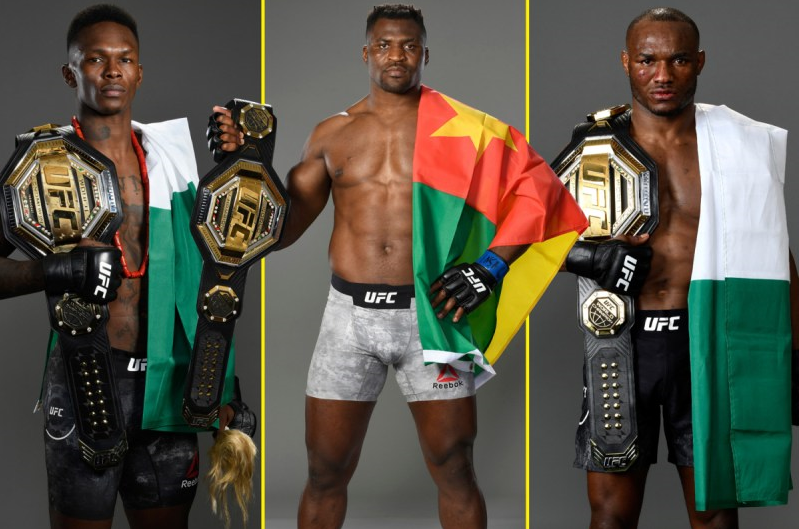 """There Are Less Than 30 Africans Fighters In The UFC, Yet 3 Of Us Are Champions"""" - Israel Adesanya Writes As He Heaps Praises On Usman, Ngannou And Himself"""