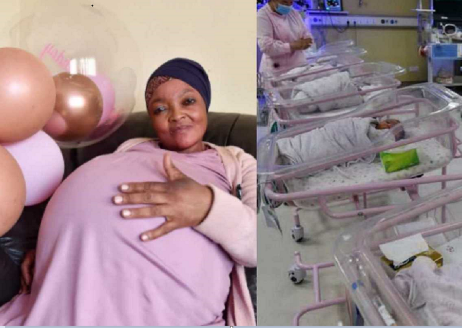 GOODNEWS: South African Woman Breaks Record As She Gives Birth To 10 Babies At Once (Photos)