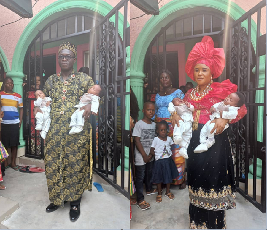 Nigerian Couple Welcome Twins After 16 Years Of Marriage