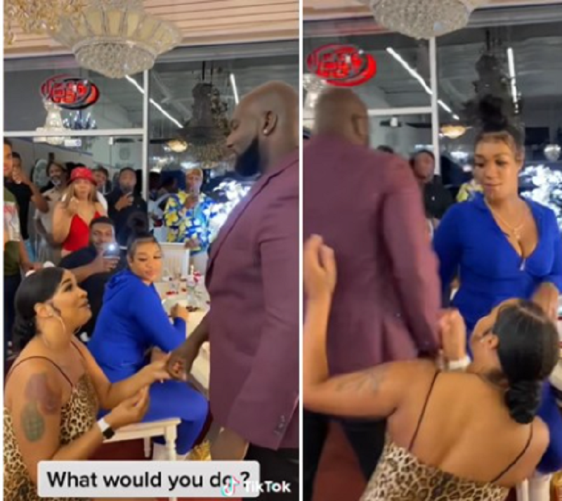 Man Walks Away With Another Lady After His Girlfriend Proposed To Him